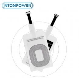 NTONPOWER QI odbiornik bezprzewodowy ładowarka dla iPhone 5 6 7 Micro USB typu C uniwersalny, szybka, bezprzewodowa ładowarka, A