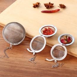 3 rozmiar ze stali nierdzewnej dzbanek do herbaty zaparzaczem siatki filtr luźne liście herbaty sitko uchwyt gadżety kuchenne
