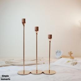 Proste chwile nowoczesny styl złoty metalowe świeczniki ślubne dekoracje Bar dekoracje na domowe przyjęcie świecznik