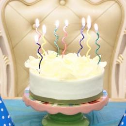2 zestaw = 16 sztuk długa krzywa świeczki na tort mix kolor urodziny świeca ślub birthday party supplies 15*0.5*0.3 cm świeca śl