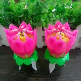 Kwiat urodziny lotosu festiwal ciasto muzyka moda świece ozdobne romantyczna świeca ciasto muzyczny lotos kwiat prezent urodzino
