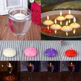 20 sztuk małe bezzapachowy pływające wody świece wystrój domu Wedding Party Dedals AU pływające świece dla domu Deco dekoracji