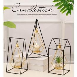 Oryginalność i w informatorze konkretnego pokoju świeczniki geometryczny świecznik żelazny świecznik na wesele akcesoria do deko