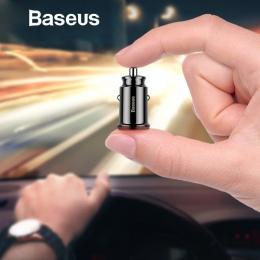 Baseus ładowarka samochodowa mini USB dla telefonów komórkowych tablet z funkcją telefonu GPS 3.1A szybka ładowarka samochodowa