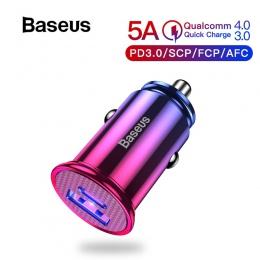 Baseus 30 W szybkie ładowanie 4.0 3.0 samochodowa USB ładowarka do Samsunga Huawei Supercharge SCP QC4.0 QC3.0 szybko PD USB C ł