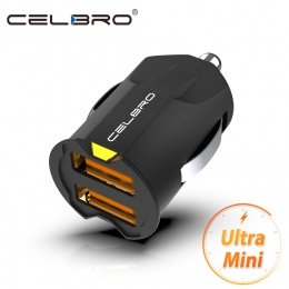 Jest idealny dla ładowarka samochodowa mini USB Adapter 2A samochód USB ładowarka do telefonu komórkowego podwójna ładowarka sam
