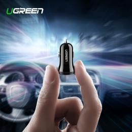 Ugreen ładowarka samochodowa mini USB dla telefonów komórkowych tablet z funkcją telefonu GPS 4.8A szybka ładowarka samochodowa