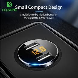 FLOVEME 5 V 3.6A ładowarka samochodowa podwójna ładowarka szybka ładowarka USB zapalniczki samochodowej ładowarka do iPhone Xiao