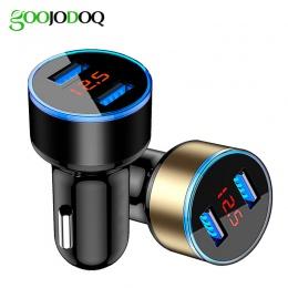 Uniwersalna podwójna ładowarka samochodowa USB 5 V 3.1A mini ładowarka szybkie ładowanie z diodą LED do telefonu komórkowego int