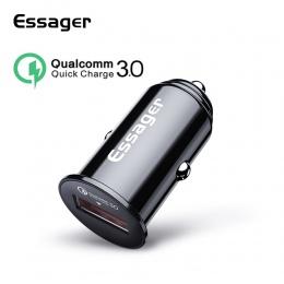 Essager ładowarka samochodowa USB szybkie ładowanie 3.0 QC3.0 dla Samsung Huawei Xiao mi uniwersalna ładowarka samochodowa szybk