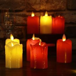 3 sztuk/partia Led świeczka bez ognia z tworzywa sztucznego symulowane płomień LED urodziny świeczki boże narodzenie ślub dekora