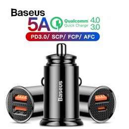 Baseus 30 W ładowarka samochodowa z szybkie ładowanie 4.0 3.0 dla iPhone X Xs Max USB ładowarka do telefonu samochodowego SCP AF