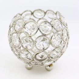 Złoty świeczniki kryształowej kuli świecznik 8 cm świeca latarnia świeczniki kandelabr domu dekoracyjny ślub nowy rok strona dek