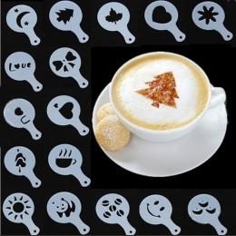 16 sztuk kawy Latte Cappuccino Barista sztuki szablony ciasto Duster szablony do kawy akcesoria Gusto Nespresso Zavarnik Dolce