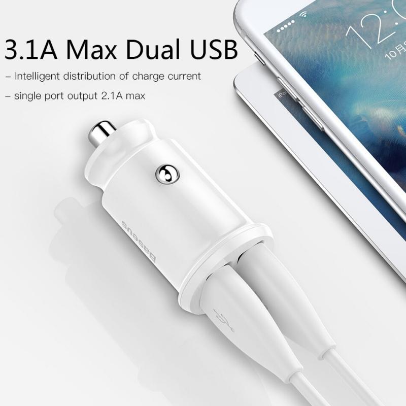 Baseus podwójna ładowarka samochodowa USB 3.1A szybki
