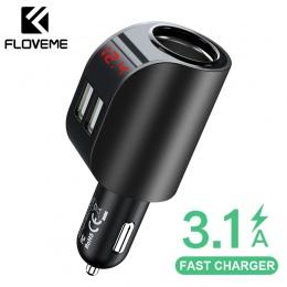 FLOVEME 3.1A USB ładowarka samochodowa ładowarka do telefonu komórkowego samochodu Chargeur ładowarka USB szybkie szybkie ładowa