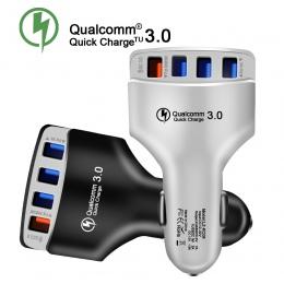 Szybka ładowarka 3.0 ładowarka samochodowa Adapter 7A QC3.0 Turbo szybkie ładowanie 4 USB telefon komórkowy do samochodu ładowar