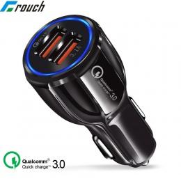 Crouch szybkie ładowanie 3.0 ładowarka QC 3.0 5 V 9 V 12 V podwójna ładowarka samochodowa USB Charge szybka ładowarka samochodow