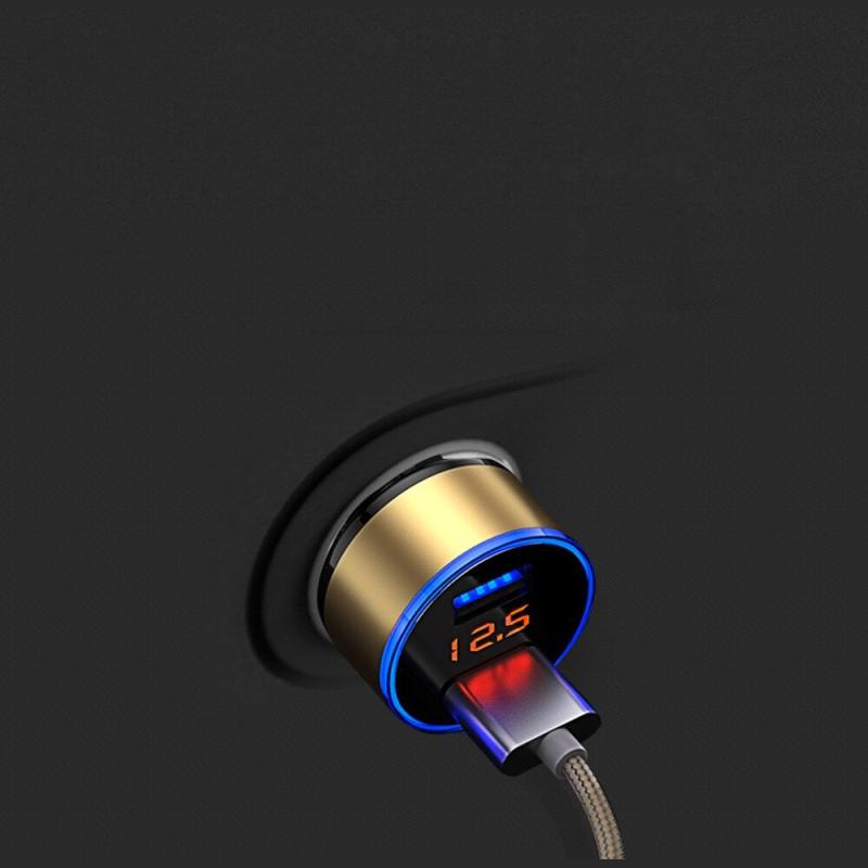 3.1A 5 V podwójna ładowarka samochodowa USB z wyświetlaczem