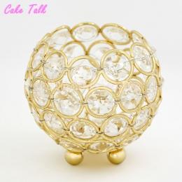 Świeczniki ślubne złoty/srebrny kryształowa miska szkło 8 cm tealight świecznik do dekoracji domu candy bar party dostawca