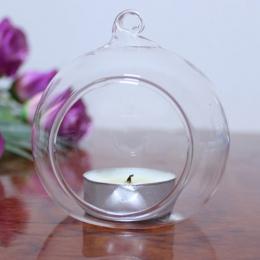 Szkło kryształowe wiszące świecznik świecznik Home dekoracje ślubne Party kolacja Decor 2019