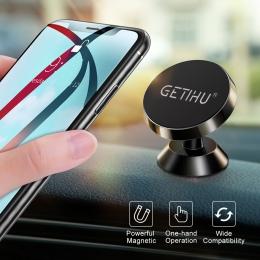 GETIHU uniwersalny samochodowy magnetyczny uchwyt na telefon stojak w samochodzie dla iPhone X Samsung magnes uchwyt do otworu w