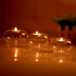 Wielu rozmiar przezroczysta herbata lekki statyw kryształowy świecznik okrągły świecznik ozdoby prezent jadalnia strona ślub eur