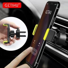 GETIHU uchwyt samochodowy do telefonu iPhone X XS Max 8 7 6 Samsung 360 stopni wsparcie Air Vent uchwyt do samochodu stojak na t