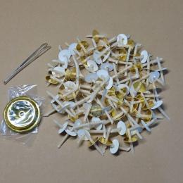 Domowe masło lampa knot, masło lampa knot, wykonane z parafiny i przędza bawełniana, pływające powyżej w oleju, w pudełku, zawar