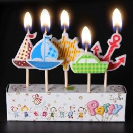 AIHOME 3 sztuk/partia świeczki urodzinowe Cartoon Craft prezenty dla dzieci śliczne przypadku zaopatrzenie firm ciasto Topper św