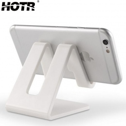 HOTR uniwersalny uchwyt biurkowy Tablet uchwyt na telefon komórkowy z odporne na wstrząsy podkładka silikonowa silne z tworzywa
