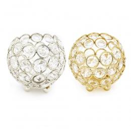 Złoty świeczniki kryształowej kuli świecznik 8 cm 10 cm 12 cm 15 cm latarnia świeczniki kandelabr domu dekoracyjny ślub nowy rok
