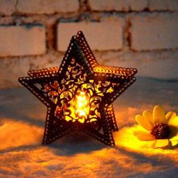 Pentagram minimalistyczny marokański świecznik świecznik latarnia Bridal materiały dekoracyjne świeczniki na dekoracja domowa