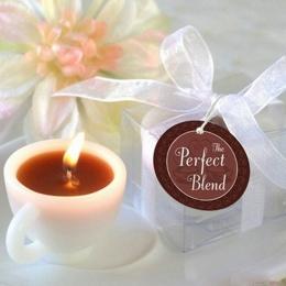 Hot Mini wygodne filiżanka kawy wosk zapachowy ślubne piękne wydarzenie rocznica ślub świecznik wotywny świecznik dostaw