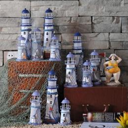 Latarnia morska dekoracji latarnia morze śródziemne prezent ślubny żelazny świecznik romantyczny świecznik na tealighty Mix rozm