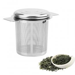 Pokrywy do herbaty i filtry do kawy drobnych oczkach sitko do herbaty wielokrotnego użytku ze stali nierdzewnej zaparzaczem herb