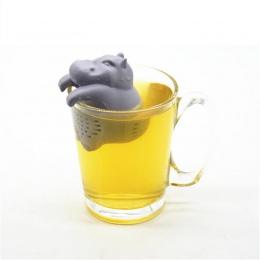 1 sztuk silikonowe Hippo w kształcie zaparzacz do herbaty wielokrotnego użytku sitko do herbaty kawy zioła filtr do domu luźne l