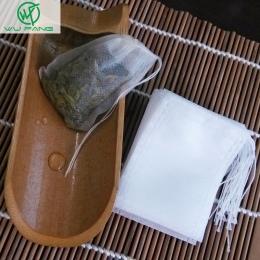 Nowe torebki 100 sztuk/partia 5.5x7 CM puste torebki na herbatę z Seal filtr papier do Herb luźne do herbaty