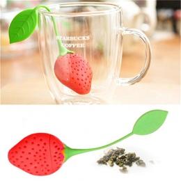 Słodkie truskawki sitko do herbaty torebki herbaty silikonowe luźne zaparzacz herbaty liściastej filtr dyfuzor zabawy Cartoon ak