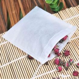 100 sztuk Medcine torby 6*8 cm włókniny Seal filtr etui ze sznurka wielofunkcyjne torebki herbaty gotować, zioło, przyprawa, nar