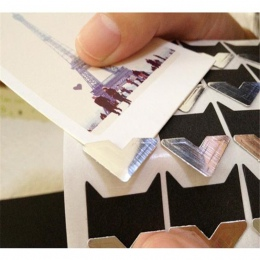 24 sztuk/arkusz DIY rocznika rogu kraft Paper naklejki do albumu fotograficznego ramki dekoracji Scrapbooking