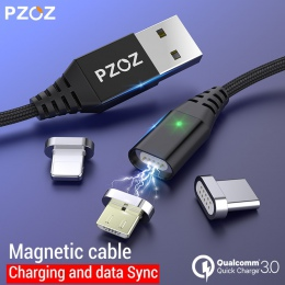 PZOZ kabel magnetyczny Micro usb typu C szybka adapter do ładowania telefonu Microusb typu C magnes ładowarka usb c dla iphone S