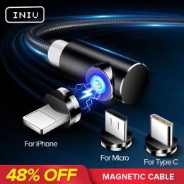 INIU 2 m szybki kabel magnetyczny Micro USB typu C ładowarka ładowania dla iPhone XS X XR 8 7 Samsung S8 magnes telefonu z syste
