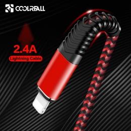 Coolreall kabel USB dla iPhone Xs max Xr X 8 7 6 plus 6 s 5 s plus iPad 2.4A szybkie ładowanie kabel Usb do telefonu komórkowego
