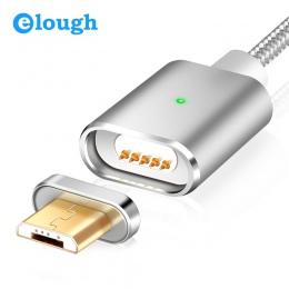 Elough E03 magnetyczna ładowarka Micro USB kabel do Xiaomi Huawei telefonu komórkowego z systemem Android szybkie ładowanie magn