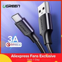 Ugreen USB typu C kabel do Xiaomi Redmi Note 7 mi9 kabel USB C do Samsung S9 kabel szybkiego ładowania USB-C telefon komórkowy p