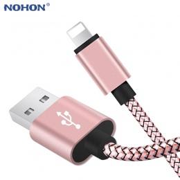 20 cm 1 m 2 m 3 m danych kabel USB do ładowania dla iPhone 6 s 6 s 7 8 plus Xs Max XR X 10 5S iPad Nylon szybkie ładowanie pocho