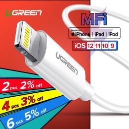 Ugreen mif kabel USB do telefonu iPhone X Xs Max XR 2.4A szybkie ładowanie ładowarka USB kabel do transmisji danych dla kabel do