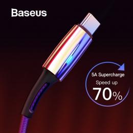 Baseus szybkie ładowanie USB typu C C kabel 5A dla Huawei Lite Pro USB do ładowania kabel do Huawei P20