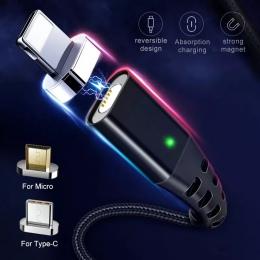 GETIHU 2.4A szybka ładowarka 3.0 kabel magnetyczny dla iPhone XS XR X 7 6 szybkie Micro USB typu C magnes typu C telefon kabel d
